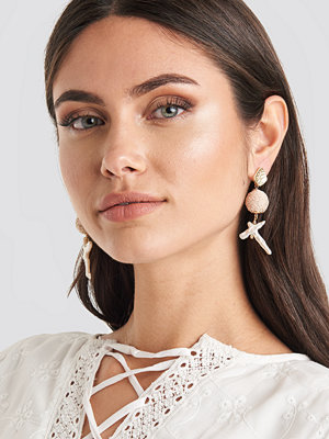 Mango smycke Icy Earrings vit beige /