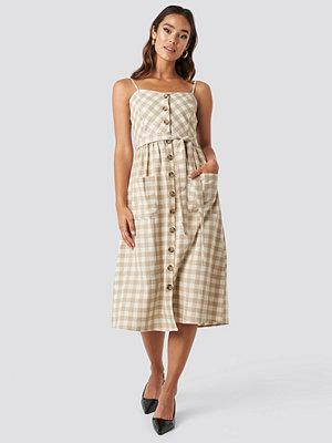 Trendyol Strap Button Detailed Dress beige