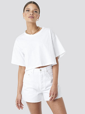 T-shirts - Beyyoglu Cropped Basic T-Shirt vit