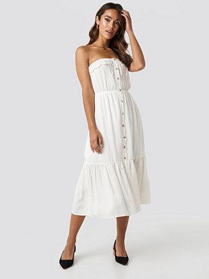 Trendyol Carmen Button Midi Dress vit