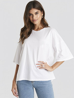 T-shirts - NA-KD Basic Oversized Boxy T-shirt vit