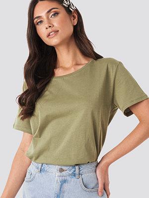 T-shirts - NA-KD Basic Basic Oversize T-Shirt grön
