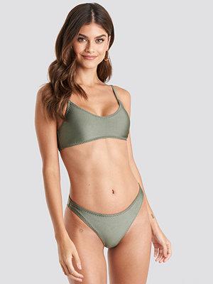 NA-KD Swimwear Zig-Zag Seam Bikini Panty grön