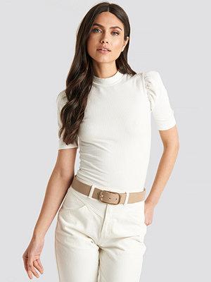 Bälten & skärp - NA-KD Accessories Slim Oval Buckle Belt beige