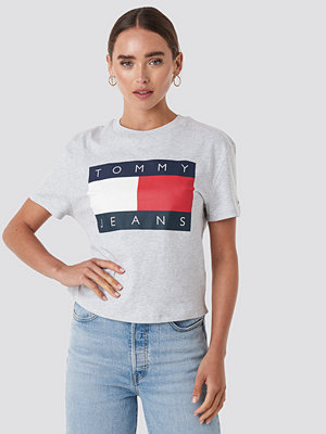 Tommy Jeans Tommy Flag Tee grå