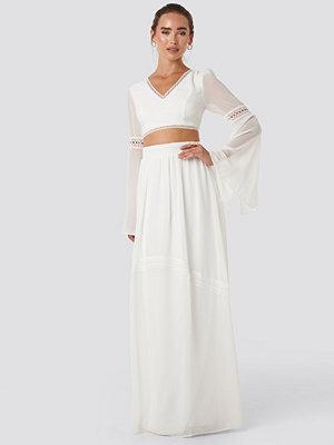 Trendyol Ribbon Detailed Long Skirt vit