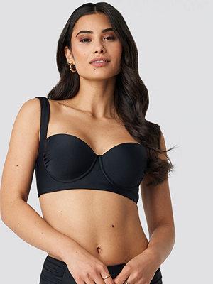 Hannalicious x NA-KD Wide Strap Bikini Top svart