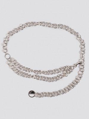 Bälten & skärp - NA-KD Accessories Slim Links Chain Belt silver