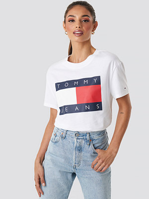Tommy Jeans Tommy Flag Tee vit