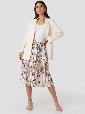 NA-KD Trend Tie Dye Print Pleated Midi Skirt multicolor