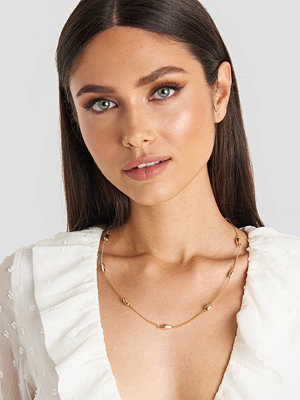 Karo Kauer x NA-KD smycke Gold Drop Necklace guld