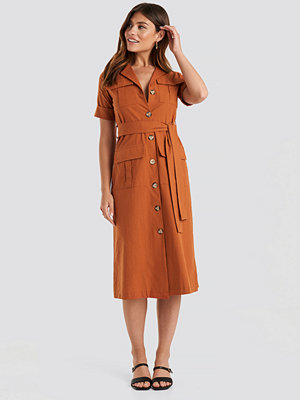 Trendyol Buttoned Midi Dress orange