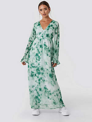 NA-KD Tie Dye Maxi Dress grön