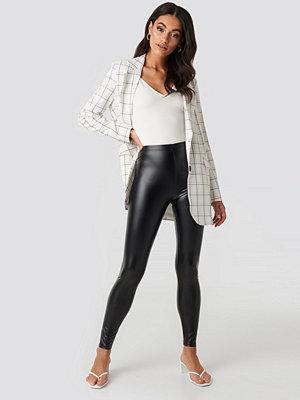 Leggings & tights - NA-KD Shiny High Waist Leggings svart