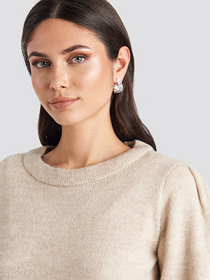 NA-KD Accessories smycke Folding Detail Oval Hoops silver