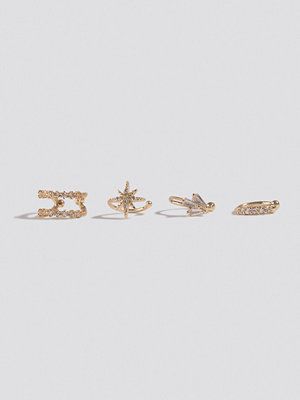 NA-KD Accessories smycke Double Pack Sparkling Ear Cuff Set guld