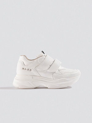 NA-KD Shoes Chunky Sneakers Velcro vit