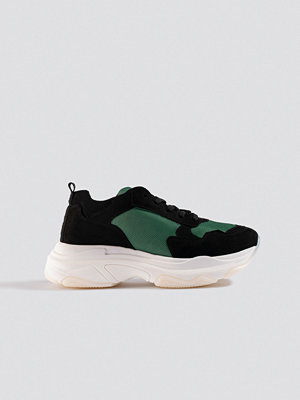 NA-KD Shoes Chunky Green Sneakers svart grön