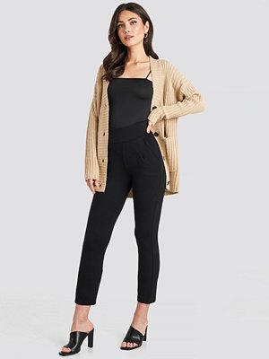 Leggings & tights - NA-KD High Waist Tapered Leg Jersey Pants svart