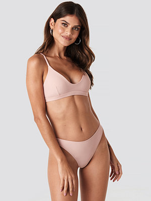 Gerda x NA-KD High Waist Slim Bikini Bottom rosa