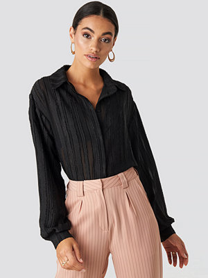 NA-KD Classic Structured Blouse svart