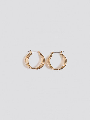NA-KD Accessories smycke Close Layered Hoop Earrings guld