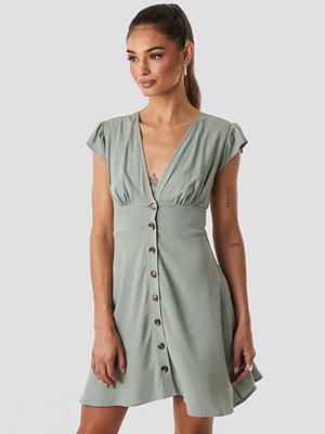 NA-KD Button Up Mini Dress grön