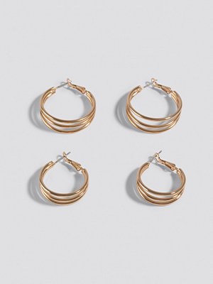 NA-KD Accessories smycke Double Pack Layered earrings guld