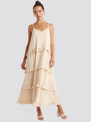 Trendyol Ruffle Detailed Maxi Dress beige