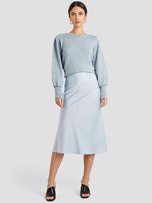 NA-KD Classic Satin Skirt blå