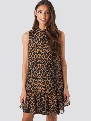 Trendyol Leopard Print Mini Dress brun