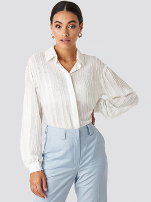 NA-KD Classic Structured Blouse vit