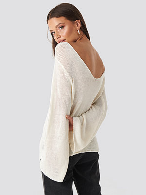 Rut & Circle Vanessa Back V-neck Knit vit