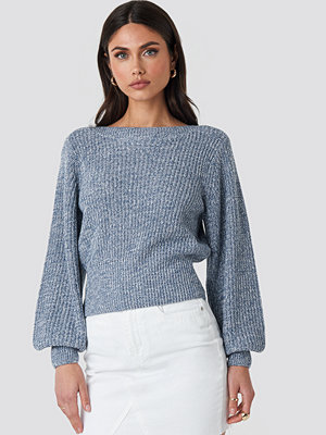 NA-KD Twisted Pullover blå