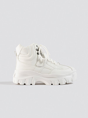 NA-KD Shoes Platform Sneaker Boots vit