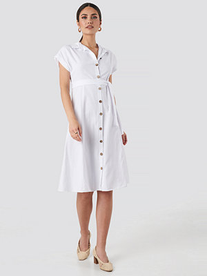 Trendyol Binding Detailed Shirt Dress vit