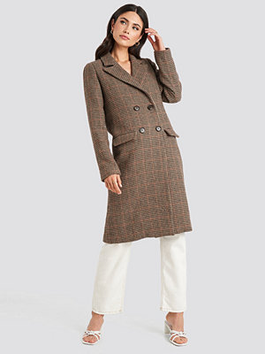 NA-KD Trend Brown Pepita Coat brun