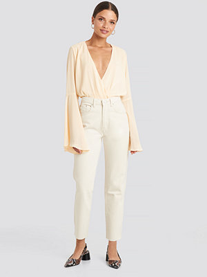 NA-KD Trend Straight Jeans vit