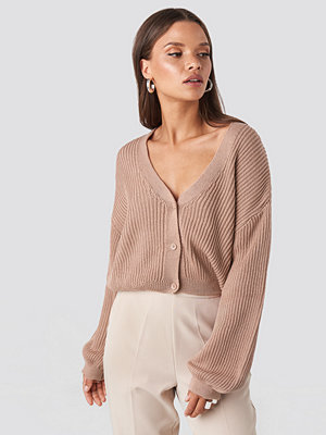 NA-KD Volume Sleeve Cardigan rosa