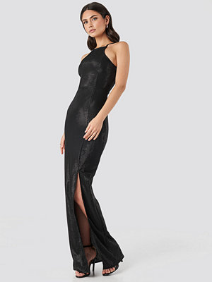 Trendyol Slit Detail Evening Dress svart