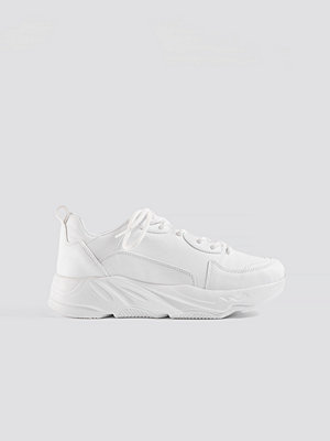 NA-KD Shoes Sporty Chunky Trainers vit