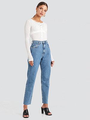 NA-KD Trend Straight Jeans blå