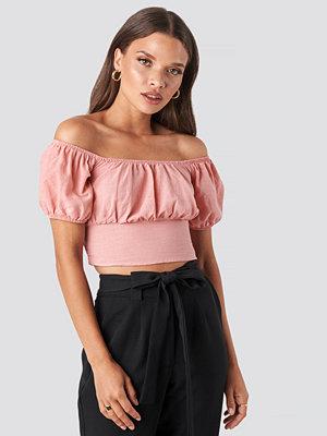 Trendyol Off Shoulder Puff Sleeve Top rosa