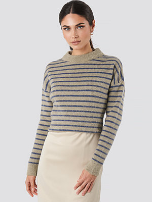 NA-KD Striped Round Neck Knitted Sweater multicolor