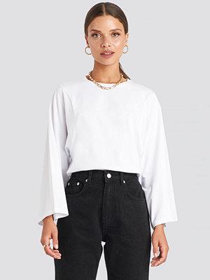 T-shirts - NA-KD Trend 3/4 Sleeve Oversized Tee vit