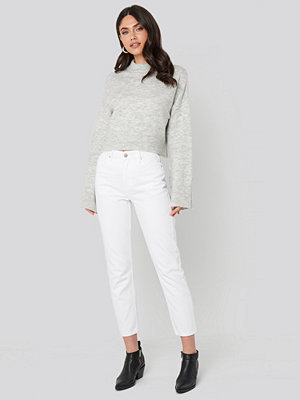 NA-KD Trend Cropped 5 Pocket Jeans vit