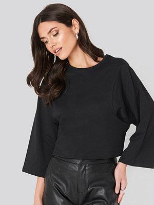 T-shirts - NA-KD Trend 3/4 Sleeve Oversized Tee svart