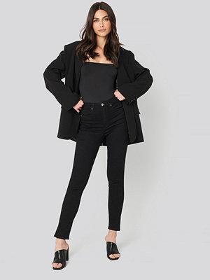 Jeans - Calvin Klein High Rise Skinny Ankle svart