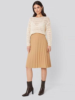 Trendyol Plisse Midi Skirt beige