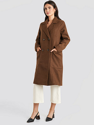 NA-KD Trend Big Pocket Coat brun